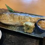 竜ヶ崎プラザホテル 四季亭 - にしん塩こうじ焼き、なめこおろし、竹輪天