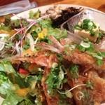 虹の仏 - 日替わり古代米定食(鰺フライ 玉葱ソース)