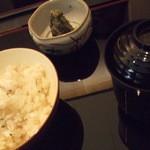 与太呂 - 鯛めし 柴漬け お吸い物