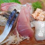 づぼら寿司 - 刺身盛り合せ