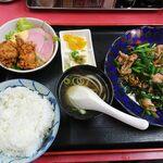 春陽 - 料理写真:肉ニラ炒めランチ\800