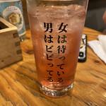 鮮魚と炉端焼き 魚丸 - 男梅サワー(¥430)
