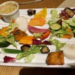 薪窯ピッツァとワイン酒場 NADESHICO - いろいろ野菜のバーニャカウダ(¥880)