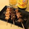 やきとり Jack - 料理写真:2012.9 せせり(150円)、ハツ(150円)、砂肝(150円)