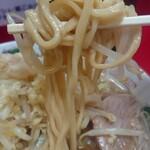 ラーメン二郎 - 麺はこんな感じ。