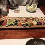 創作和食 厨 - 海鮮サラダ。味付けは厨サラダの方が好みだった。