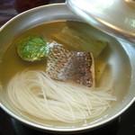 14980939 - 温かい鯛素麺