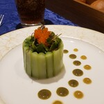 149802612 - 鮃と野菜のタルタル グリーンアスパラガスのシャルロット