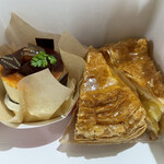 エトワール - 料理写真:アップルパイx2  和栗のムースx1