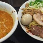 手打ち麺処 暁天 - 肉つけ担々麺(税込1,360円)