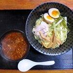 ラーメンまぁちゃん - 料理写真:まぁちゃんつけ麺(醤油)+玉子