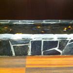 14983574 - 店内に造られた堀で泳ぐ金魚
