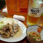 14983783 - 「とん足」・「酢もつ」・「生ビール」