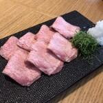蒼 - 牛タンの薄造り 980円(税込)