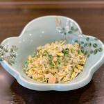 中国料理 丹甫 - しらすとセロリと干し貝柱のチャーハン