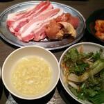 Beer&BBQ KIMURAYA - まる得ランチ定食 1000円