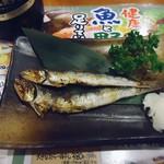 14984188 - 「メザシ(2尾)」80円也。