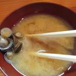 天婦羅 あぶら屋 - しじみの味噌汁
