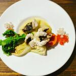 149842891 - メイン 絶対食べろ                       【伝助アナゴのフリッター・ブールブランソース】                       ビネガーとバターの旨みが最高に美味い。