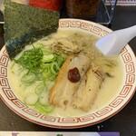 博多ラーメン 替玉食堂 - きのこ博多麺