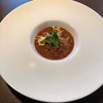 BISTRO FUN D TABLE - ランチのスープ(ホタルイカとトマト)