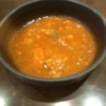 きた山 - 炭焼きすてーき きた山の炭焼きフィレステーキランチセット2835円のボルシチ風スープ(11.10)