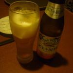 14986574 - アイスプラスビール一本目(注ぎました)
