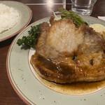 津久志亭 - ポークソテー(1,200円)+ライス(250円)