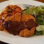 小十郎グリル昔ながらの洋食屋 - 料理写真:花巻市民には馴染みのナポリカツ!この店のはまた格別!