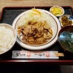 とんかつ 三条 - 生姜焼き定食 1290円