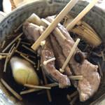 149878135 - 川幅鴨汁うどん、鴨肉