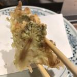 149886831 - 潮浜4620円。蕗の薹。立派な蕗の薹を丸ごと揚げて、カットしてからの提供です。頬張ると春満開の美味しさです(╹◡╹)(╹◡╹)