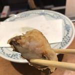 149886834 - 潮浜4620円。椎茸海老詰め。ぷりぷりの海老とジューシーな椎茸がマッチして、とても美味しかったです(╹◡╹)