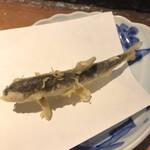 天ぷら新宿つな八 - 追加 稚鮎440円。苦味も旨味も食感も、文句なしの美味しさです(╹◡╹)(╹◡╹)。マメに敷紙を変えていただき、とても気分の良い食事でした(╹◡╹)