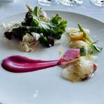 149895560 - 季節野菜と本日入荷鮮魚のカルパッチョ