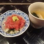 四季彩ダイニング 春 - 突先丼と筍のスープ