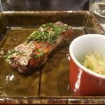 四季彩ダイニング 春 - 太刀魚の木ノ芽焼とスナップえんどうのたらこ合え