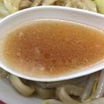 ラーメン二郎 - 非乳化スープ