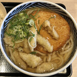 ウエスト - 博多うどん+麺大盛+ごぼう天+丸天