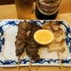 鳥春 - 料理写真:2012.9 砂ぎも焼(1串150円)、ハツ塩焼(1串180円)、なんこつ焼(1串180円)