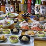 一福寿司 - 飲み放題コース4000円~。料理もさることながら、ドリンクも40種以上取り揃え、年齢関係なく楽しんでいただける内容を目指しております。