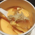 個室和食 肉割烹 吟次郎 - 龍の卵の牛タンスープ蒸し (ふかひれと季節の野菜)