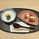 個室和食 肉割烹 吟次郎 - わらび餅・杏仁豆腐
