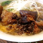 福龍門 - 豚角煮刀削麺アップ