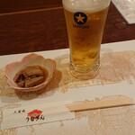うなぎん - 生ビールが旨い気温なんだな~