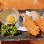 伊豆高原ビール本店レストラン - 豚の梅しそロールカツ