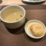 肉塊 UNO - スープと、ボンデケージョ。