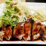 14993285 - 蔵尾ポークとんてきランチ(とんてき+サラダ、2012年9月)