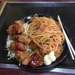 美富士食堂 - ナポリタン+チキンカツ