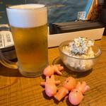 社交酒場 イム - せんべろキューピー 1体 ポテトサラダ、プレミアムモルツ